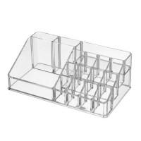 Organizador cosméticos transparente 16 dptos 21,80x12,50x8 cm