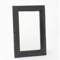 Espejo rectangular marco madera natural reciclada negra 60x90cm