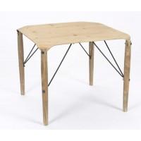Mesa baja cuadrada madera y metal Pliegue 61x61x50h cm