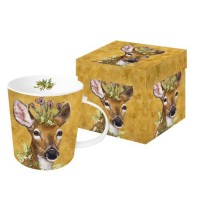 Mug decorado cierva Woodland Princess PPD 35 cl