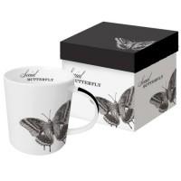 Mug decorado mariposa blanco y negro Social Butterfly PPD 35cl