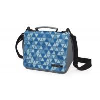 Bolsa isotérmica Smart Geometric triángulos lunchbag Iris azul