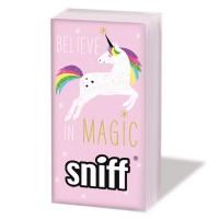 Pañuelos de papel rosas decorados Unicornio Arco Iris PPD