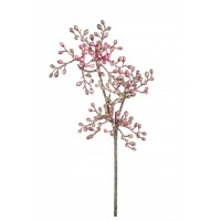 Rama navidad bolitas rosas 14x4x30,5h cm