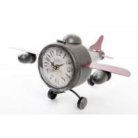 Reloj metálico de sobremesa Avioneta 37x22x19 cm