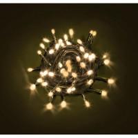 Cadena guirnalda luz navidad 48 luces led color amarillo 4,45m.