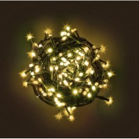 Cadena guirnalda luz navidad 120 luces led color amarillo 8,20m.