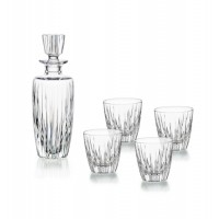 Set of glass for whiskey or liquors 5 pieces bottle + 4 glasses low Olympos Vista Alegre