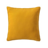 Cojín cuadrado con relleno liso amarillo mostaza 45x45cm