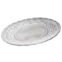 Bajo plato cristal tallado Romance 30x2,5h cm