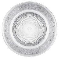 Plato cristal tallado Romance 25x2h cm