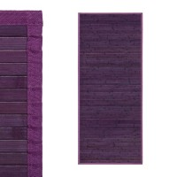 Alfombra tablillas bambú color violeta 75x175cm