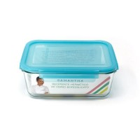 Glass food container 0,57 L Iris