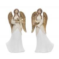 Figura navideña cerámica mujer Angel 2 opciones