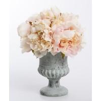 Ramo bouquet flores peonías tonos rosados en maceta 25x30h cm