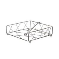 Servilletero de mesa metálico geométrico 19x19x6h cm