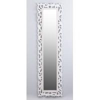Espejo marco resina color blanco roto clásico troquelado 40x150 cm