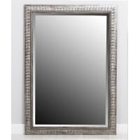Espejo resina marco plata con hojas relieve 60x90 cm 71,4x101,4 cm