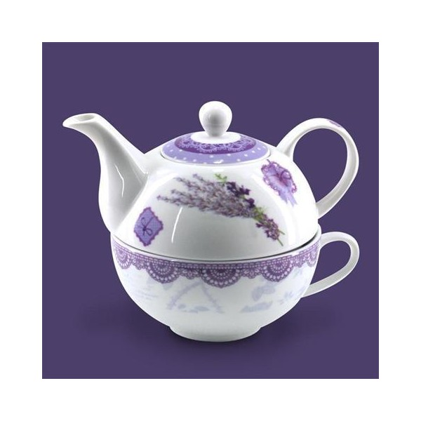 Tea for one tetera porcelana Lavanda 315cc