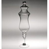 Copa bombonera cristal con pie y tapa 15xh60 cm