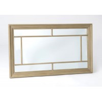 Espejo rectangular ventana marco MDF color madera natural 73x123cm