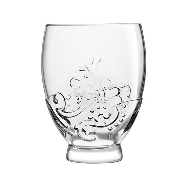 Vaso cristal con base y relieve tallado Emotions Royal Leerdam 380ml 11h cm