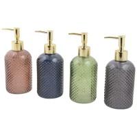 Dispensador cristal de jabón baño en varios colores 8x19h cm