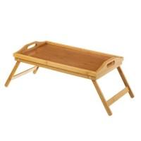 Bandeja madera bambú con pies 30x50x22h cm