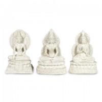 Figura resina Buda en blanco 3 formas 20x14x8,5cm
