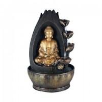 Figura resina Buda con fuente de agua lateral 25x25x40h cm