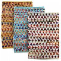 Alfombra con chenill rombos colores 55x85 cm