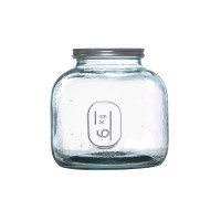 Glass storage jar Latina Guzzini
