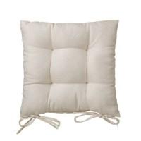 Cojín para silla cuadrado beige Jacquard 40x40x7 cm