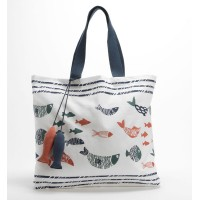 Strisce blu beach bag marinaio