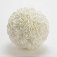Bola de flores rosas blancas foam Ø20 cm