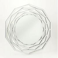 Espejo de pared veneciano moderno hexagonal Saturno 76x80cm