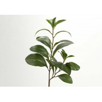 Flor artificial rama deltoidea verde 48h cm