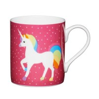 Taza café rosa decorado con Unicornio Blanco 250ml