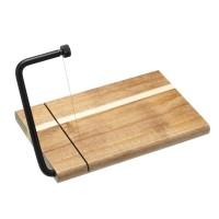 Tabla de corte para quesos con linea de corte en madera de acacia 27x19x2,5cm