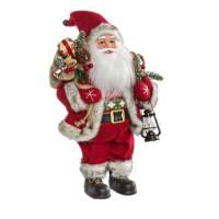 Muñeco de Navidad Papa Noel Jing Bell pequeño 16x9,5x30,5h cm