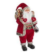 Muñeco de Navidad Papa Noel Jing Bell grande 29x20x60h cm