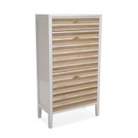 Zapatero madera pino con 2 puertas y cajón Zen 60x30,5x110,5h cm