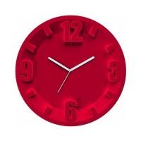Reloj de pared esfera rojo Orologio 3-6-9-12 Guzzini Ø30 cm