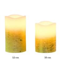 Vela led crema con base dorada 7,50x12h cm