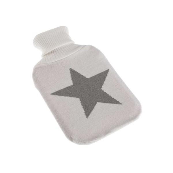 Bolsa agua caliente funda punto blanco y estrella gris 2 litros