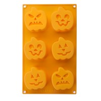 Molde silicona mini bizcochos calabazas Halloween Ibili