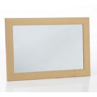 Espejo rectangular con marco dibujo triángulos dorado Harry 75x105h cm