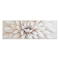 Lienzo cuadro apaisado flor dorada relieve 150x3x60 cm