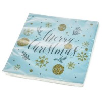 Servilletas papel navideñas estampado Merry Christmas 20 unidades 33x33cm