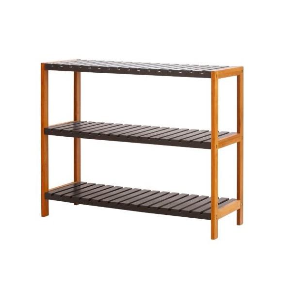 Zapatero 3 baldas madera bambú y mdf gris antracita 70x26x58,50 cm